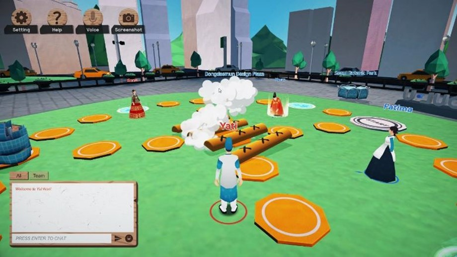 Virtual Seoul Playground's metaverse uses gamification to boost engagement and team spirit.