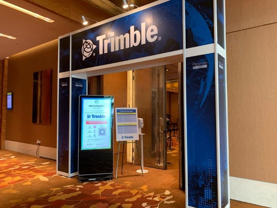 Platinum sponsor Trimble occupied one of three 'Geo Suites'.