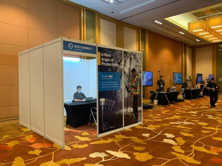 Geo Suites housed meeting pods and demos with timed appointments to minimise intermingling between attendees.