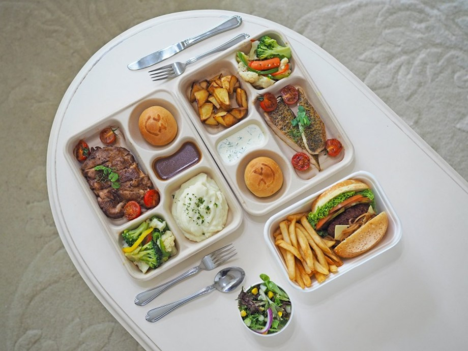 Bento sets are included as part of Crowne Plaza Changi Airport's 'SG55 Meet from Home' package.