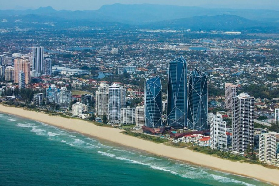 The Langham Gold Coast is housed in the crystalline forms of the Jewel development, which are inspired by gemstone shards discovered in the region dating back thousands of years.