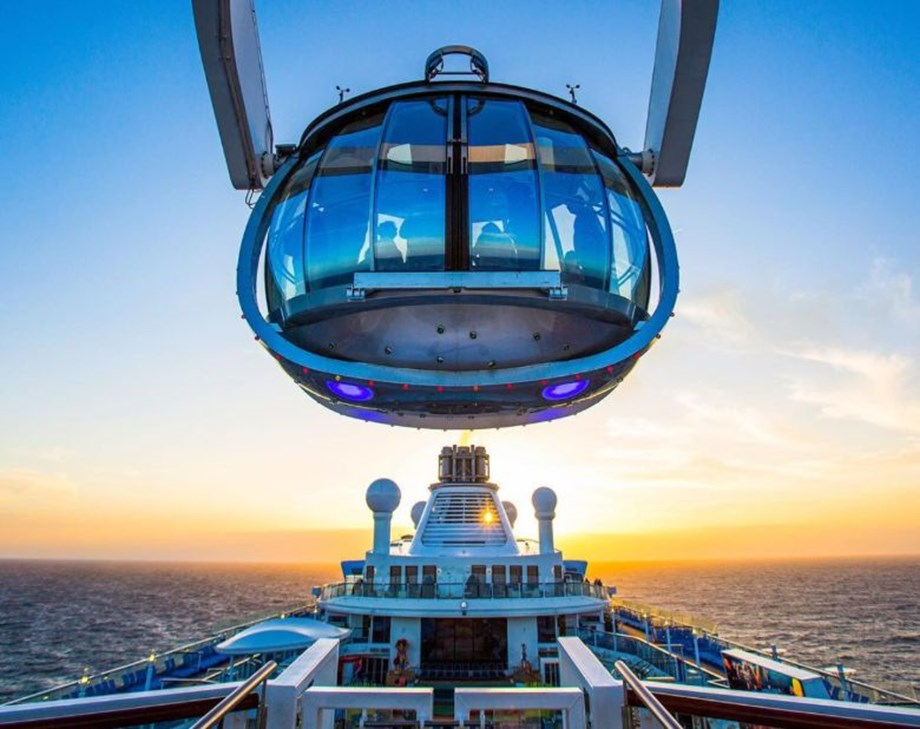 "While land-based incentives offers historical and cultural explorations, cruising delivers a one-stop-shop ""full service"" experience. Pictured: Quantum of the Seas' North Star observational pod."