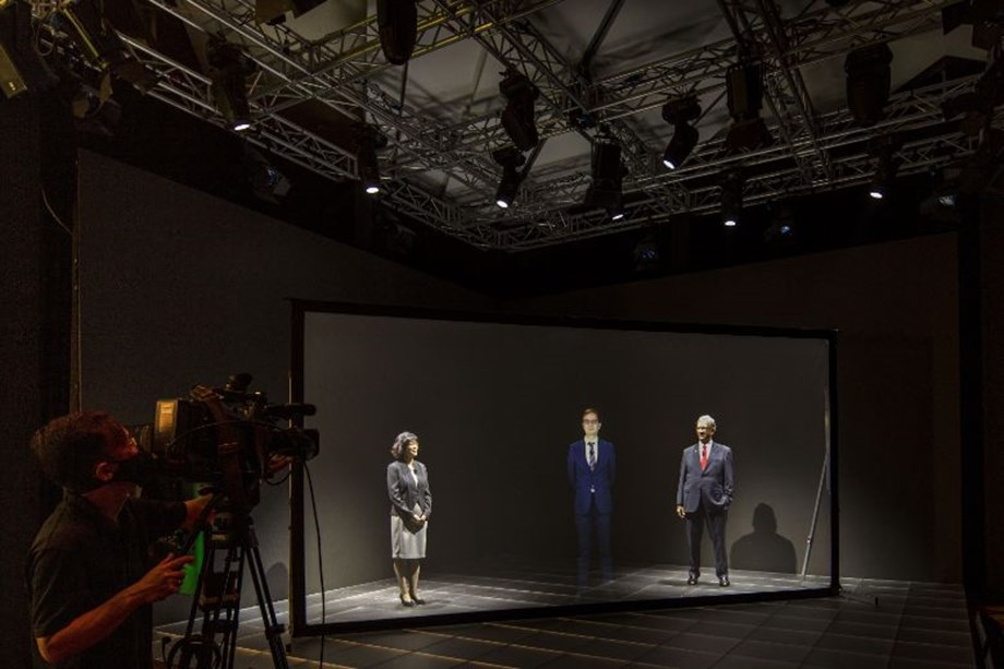 The studio's holographic telepresence abilities allow planners to beam speakers 'live' into Singapore.