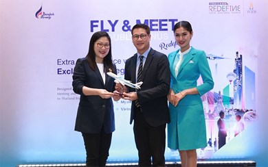 TCEB and Bangkok Airways launch the 'Fly and Meet Double Bonus - Redefined' campaign to attract more corporate groups from Cambodia, Lao PDR, Myanmar and Vietnam. (Photo Credit: Bangkok Airways Public Company Limited)