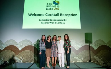 From left: Jeannie Lim, executive director, conventions, meetings & incentive travel, Singapore Tourism Board; Irene Chua, group publisher, Northstar Travel Media; Lynette Ang, CMO, Sentosa Development Corporation; Janet Tan-Collis, president, SACEOS; and Cara Puah, head of MICE and corporate sales, Resorts World Sentosa.