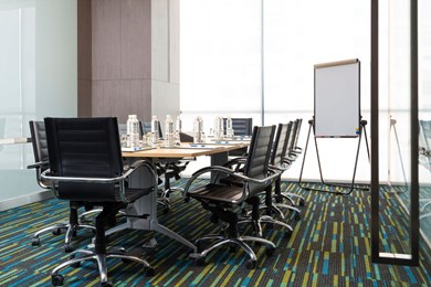 Meeting venues come with perks such as complimentary break and lunch, plus use of equipment such as flip charts, markers and free Wi-Fi.