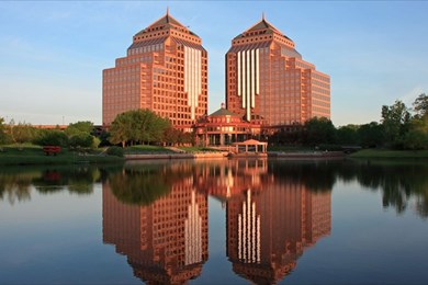 The Carlson Towers outside Minneapolis, CWT's headquarters. (Nikitsin/Shutterstock)